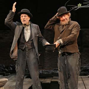 Vladimir (Patrick Stewart) and Estragon (Ian McKellen) in Waiting for Godot