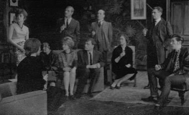 L to R: Bridget Turner, Miranda Marshall, Hazel Coppen, Derek Newark, Jennie Lynne, Peter French, Ronald Magill, Gillian Martell, Robert Gillespie, Ian McKellen.<br><br><em>Another chance for the regular company to show its versatility — my own contribution was as a ''Teddy-Boy'' in tight jeans and leather jacket restoring my native Lancashire accent which Cambridge University had tempered with ''received pronunciation''. </em>
