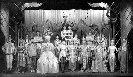 The cast.  Ian McKellen (Tee Vee) at far left.  Others from left:  Irene French, Brendan Barry, Gawn Grainger, Irene Innescourt, Marti Webb, Peter Macriel, Jonathan Meddings, Josie Kidd, Colin Kaye