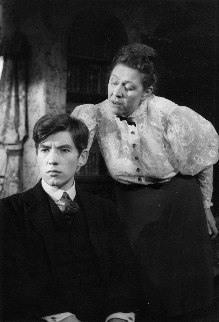 Something for a future nation to be proud of.  Act 3. Morgan Evans (Ian McKellen) and Miss Moffat (Peggy Mount.)<br><em> </em>