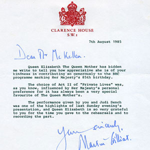 Letter from Clarence House