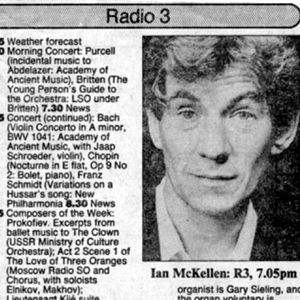 The Times radio programme listings for 27 January 1988, including my 7:05pm debate with Peregrine Worthsthorne on Section 28, when I publically came out.