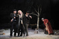 Patrick Stewart, Ronald Pickup, Ian McKellen, and Simon Callow  in Waiting for Godot