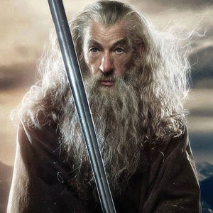French character poster: Ian McKellen is Gandalf in The Hobbit
