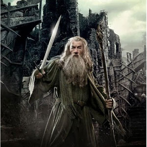 Spanish character poster: Ian McKellen is Gandalf in The Hobbit