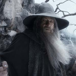 Gandalf the Grey and Radagst the Brown at Gol Dulgur in The Hobbit: The Desolation of Smaug
