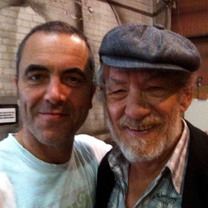 2011, THE HOBBIT: With James Nesbitt at Stone Street Studios