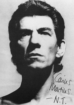 Ian McKellen as Caius Martius, in Coriolanus