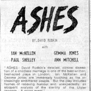 1975, ASHES: Advertisement in The Observer (�150 paid by I.M. and never reimbursed)