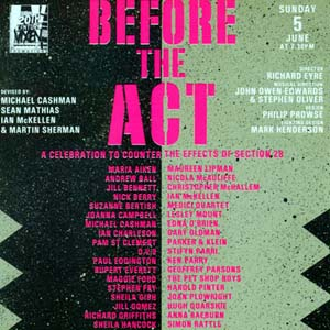 BEFORE THE ACT, Benefit to fight Section 28, 5 June 1994