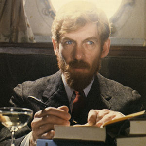 1979, PRIEST OF LOVE: D. H. Lawrence, pen in hand.