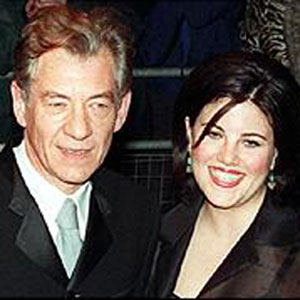 1999, GODS AND MONSTERS: Ian McKellen and Monica Lewinsky attend <em><B>Gods and Monsters</em></B> London Premiere  - Photo by BBC