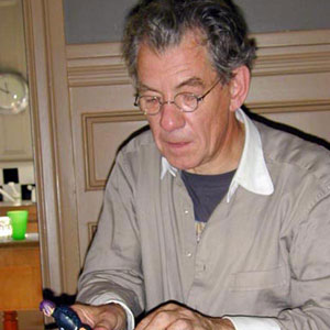 2000, X-MEN: With Magneto action figure, Bill Condons dining room, June 2000  - Photo by Keith Stern