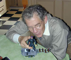 2000, X-MEN: With Magneto action figure  - Photo by Keith Stern