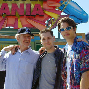 2000, X-MEN: Ian McKellen (Magneto), Bryan Singer (Director), and James Marsden (Cyclops), at Universal Studios Los Angeles  - Photo by Keith Stern