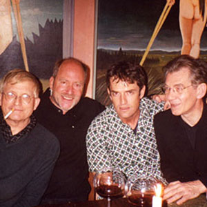 1990s,   David Hockney, Greg Gorman, Rupert Everett, Ian McKellen at Greg Gormans home