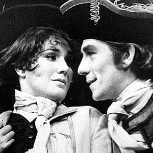 1970, THE RECRUITING OFFICER: Susan Fleetwood (Sylvia) with Ian McKellen (Captain Plume)