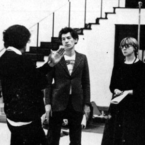 Claire Lunghi (Perdita), John Barton (director), Ian McKellen (Leontes), Barbara Leigh-Hunt (Paulina), and Marilyn Taylerson (Hermione) in rehearsal at Royal Shakespeare Theatre, Stratford-upon-Avon