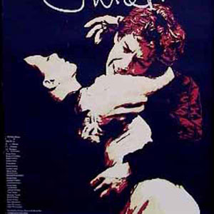 The theatre poster - Francesca Annis and Ian McKellen signed for Juliet and Romeo in their own hand-writing to create the logo.