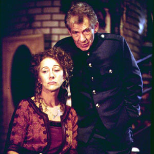 Helen Mirren (Alice) and Ian McKellen (Edgar)
