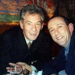 Ian McKellen and Nicholas Hytner (future Director of the Royal National Theatre) at the Westside Theatre in New York for the Only Make Believe benefit, 5 November 2001.