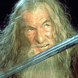 2001, THE LORD OF THE RINGS: THE FELLOWSHIP OF THE RING: Gandalf  - Photo by Pierre Vinet/New Line Cinema
