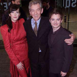 New York Premiere with Liv Tyler and Elijah Wood.  Sir Ians wardrobe by <a href=http://www.johnvarvatos.com target =_blank>John Varvatos</a>.