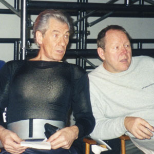 1999, X-MEN: With Tim Monich (Dialect Coach) on the set in Toronto