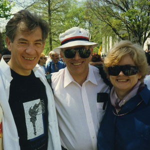 1993,   Jenny Littlefield, cousins David & Joanne Reiss, March on Washington