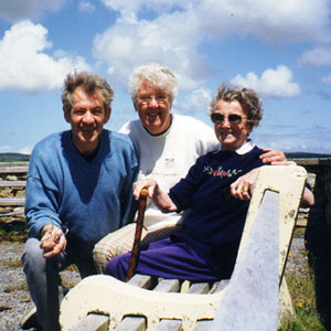 With sister Jean and stepmother Gladys on holiday in Galway