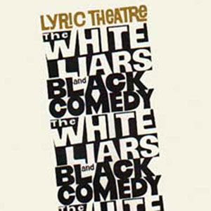 1968, THE WHITE LIARS / BLACK COMEDY: Programme Cover