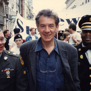 1993,   With former American soldiers Clifford Krapf and Perry Watkins, London Gay Pride 1993