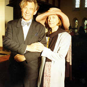 With Eileen Atkins