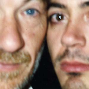 Ian McKellen and Robert Downey, Jr.  (The photo is blurry, its not just them!)