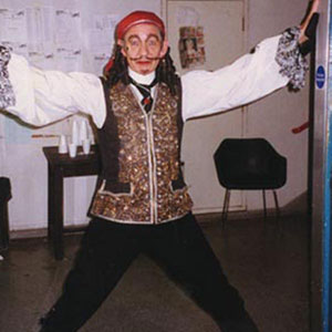 Backstage as Captain Hook