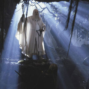Gandalf returns from his battle with the Balrog as Gandalf the White.