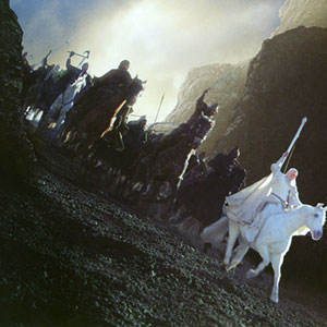 Gandalf at Helms Deep