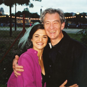 With Rachel Weisz on the set of MUMMY 2 in London