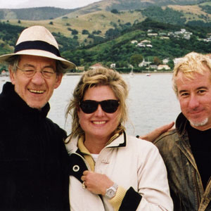 Ian McKellen, <a href=http://www.kahikatea.com target=_blank>Jane Yates</a>, Keith Stern in Akaroa NZ