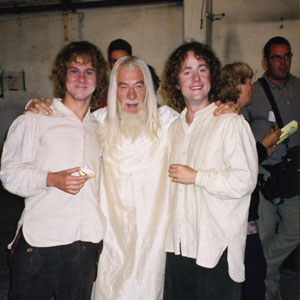 2000, THE LORD OF THE RINGS: THE FELLOWSHIP OF THE RING: With Dominic Monaghan and Billy Boyd