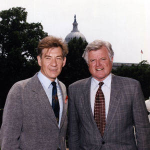 1992,   With Senator Ted Kennedy