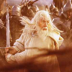 Gandalf the White in full battle