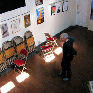 2003, An Audience with Ian McKellen: St. Pauls Centre on the Isle of Dogs in east London, exhibiting stage and screen stuff which was auctioned off during the show to benefit the SPACE  - Photo by Keith Stern