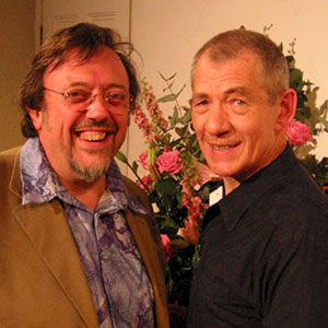 2003, An Audience with Ian McKellen: With Author Brian Sibley after the show  - Photo by Keith Stern