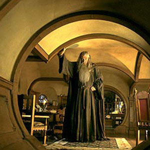 2001, THE LORD OF THE RINGS: THE FELLOWSHIP OF THE RING: Gandalf in Bag End  - Photo by Pierre Vinet/NLC Productions