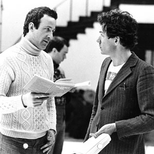 Bob Peck and Ian McKellen in rehearsal