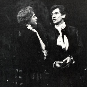 Javier (Michael Pennington) and Pierre (Ian McKellen)