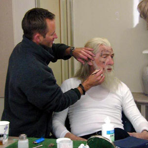 2000, THE LORD OF THE RINGS: RETURN OF THE KING: In make-up trailer, May 2000  - Photo by Keith Stern