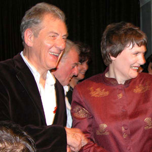 2003, THE LORD OF THE RINGS: RETURN OF THE KING: With New Zealand Prime Minister Helen Clark at Parliament reception  - Photo by Keith Stern