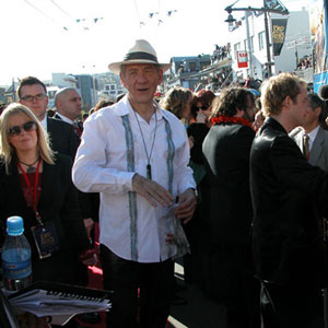 2003, THE LORD OF THE RINGS: RETURN OF THE KING: Red Carpet, Wellington Premiere, 1 December 2003 (Ian McKellen, Peter Jackson, Billy Boyd)  - Photo by Keith Stern